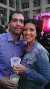 Giancarlo and me at Beer Fest!